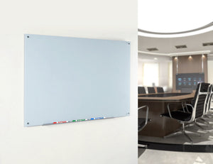 White Wall Mounted Dry Erase In a commercial office setting