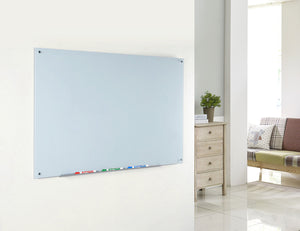 Tempered Glass white board in a home office setting