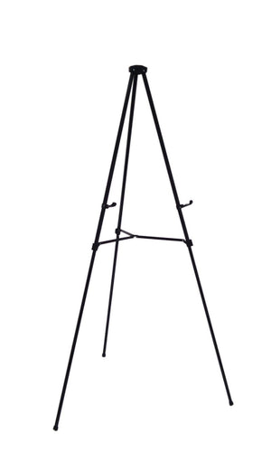 Pack of 10 Lightweight Aluminum Telescoping Display Easel, Silver (10 pack)