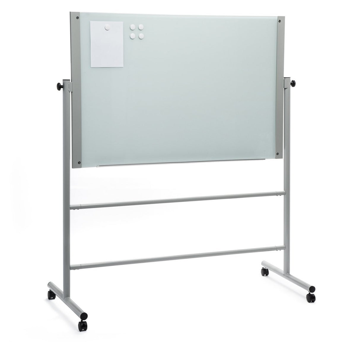 Mobile Rolling Easel Stand for Glass Dry Erase Boards (Stand only)