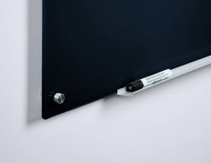 Frameless Wall Mounted Black Dry Erase Board with Rounded Edges