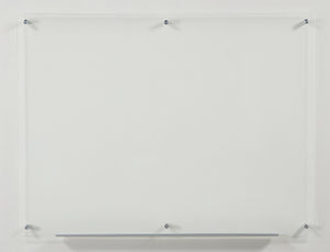 Ultra Clear Glass Dry-Erase Board With Aluminum Marker Tray