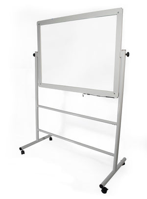 Audio-Visual Direct Glass Dry-Erase Board Mobile Stand - Light Up Board