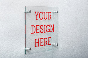"Clear Glass Floating Sign Frame 12"" x 16"""