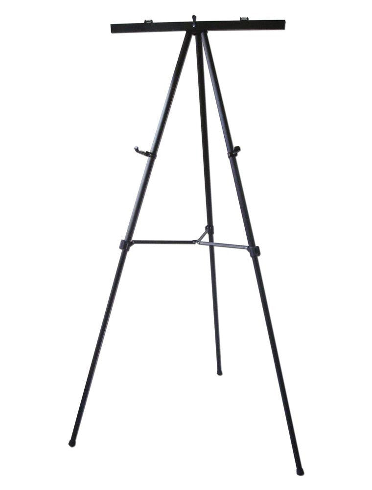 Black Telescoping Height Adjustable Free Standing Black Aluminum Easel