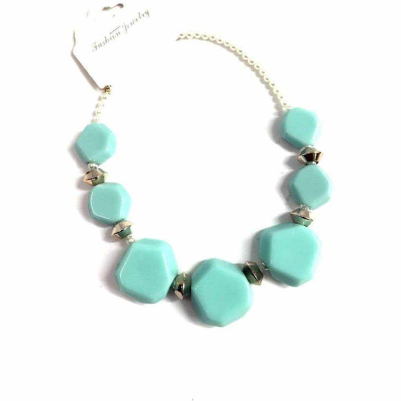Blue Gemstone Necklace - Silvana Boutique