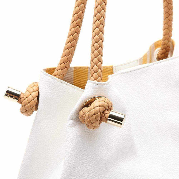 Braided handle shopper bag - Silvana Boutique