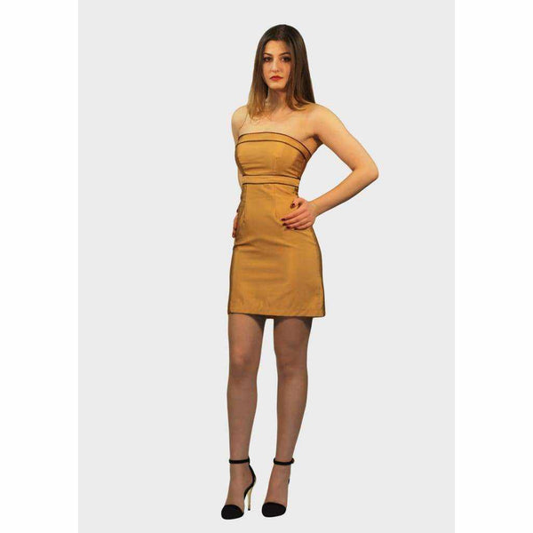Cocktail gold mini Dress - Silvana Boutique