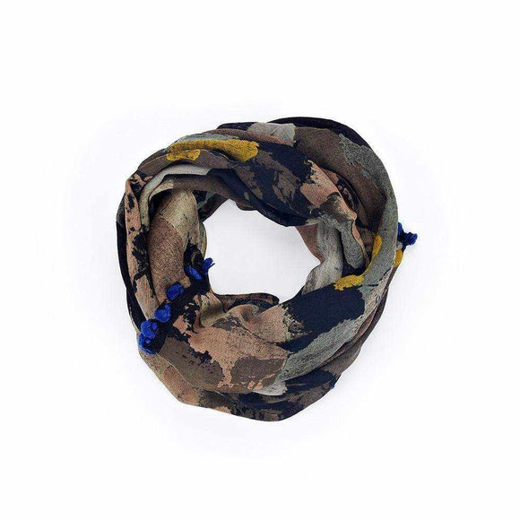 Dark Blotch Print Scarf - Silvana Boutique