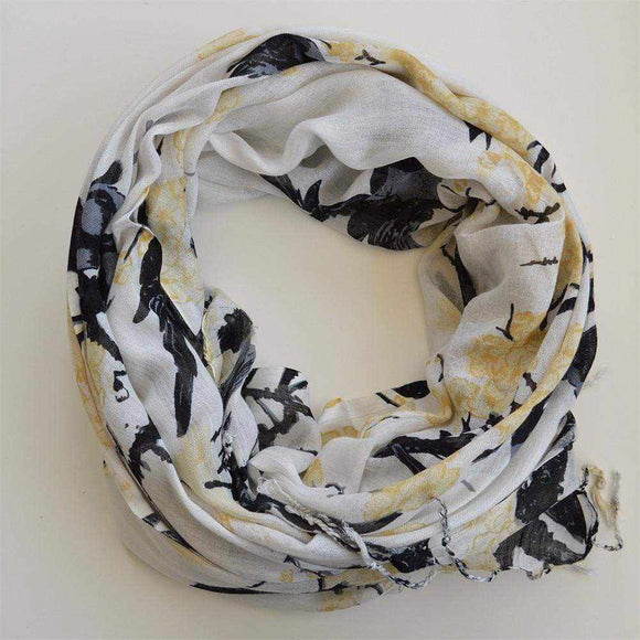 Floral Mix Print Scarf - Silvana Boutique
