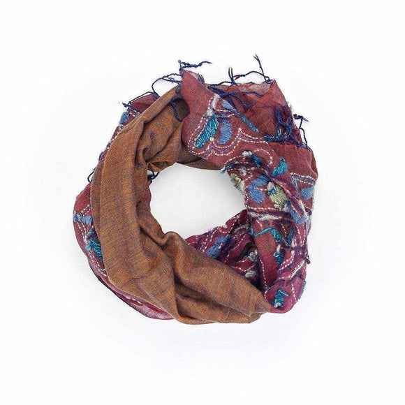 Floral Paisley Print Scarf - Silvana Boutique