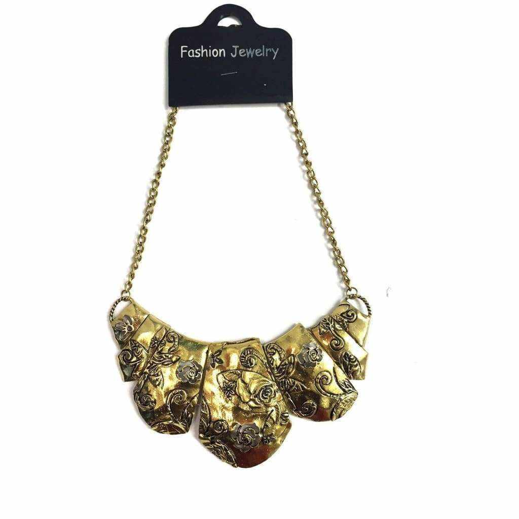 Gold Floral Necklace - Silvana Boutique