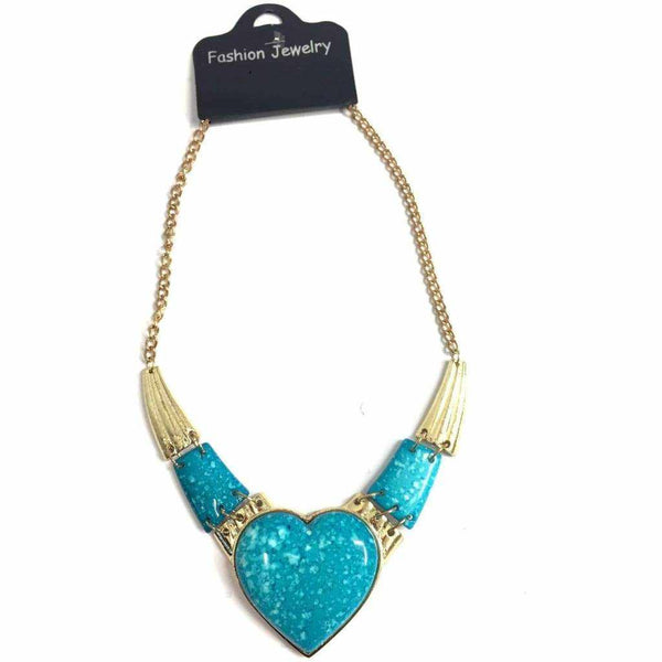 Heart Stone Necklace - Silvana Boutique