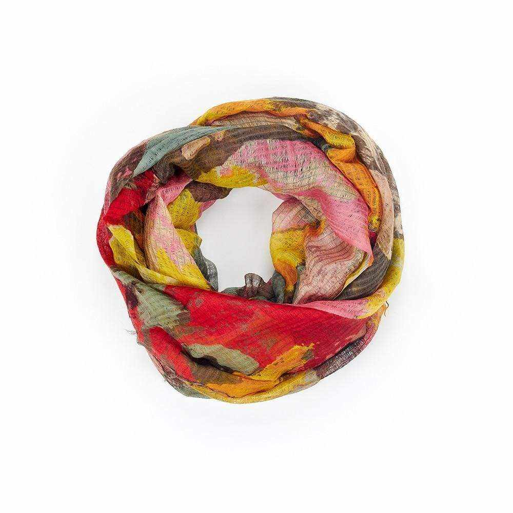Multicolour Blotch Print Scarf - Silvana Boutique