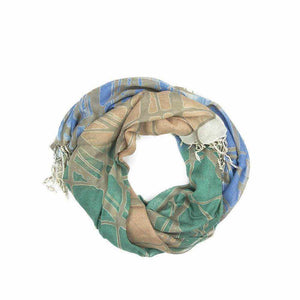 Multicolour Print Scarf - Silvana Boutique