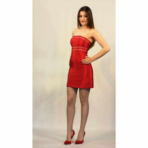 Red Classic Cocktail Dress - Silvana Boutique
