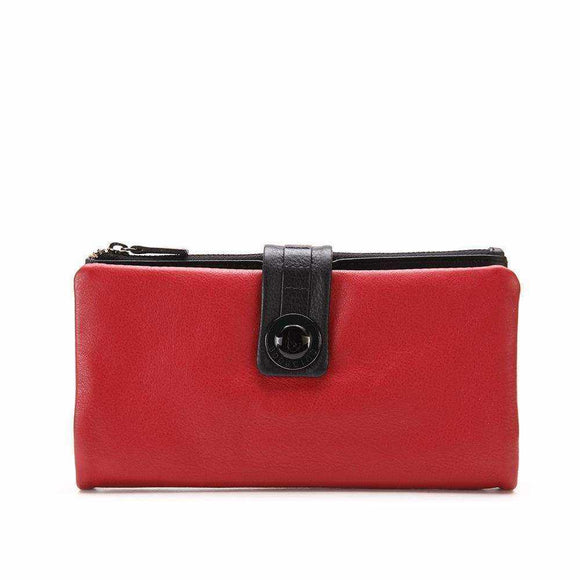 Silva extra large leather wallet - Silvana Boutique