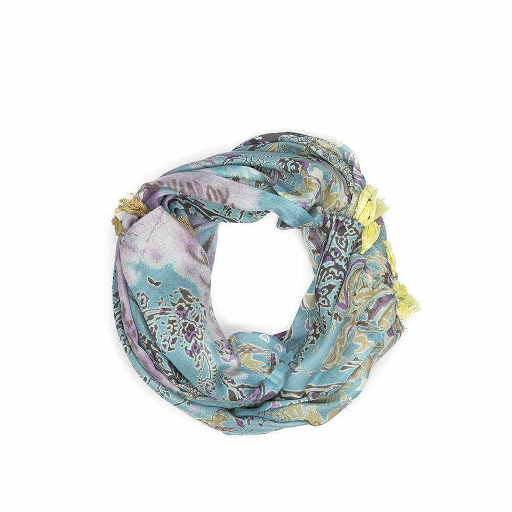 Tie Dye Mixed Print Scarf - Silvana Boutique