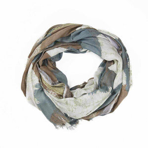 Washed Effect Lace Scarf - Silvana Boutique
