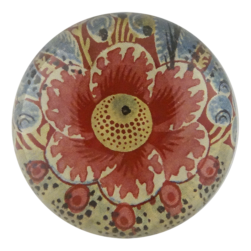 John Derian Dome Paperweight: Chintz Detail