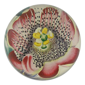 John Derian Dome Paperweight: Passion Flower