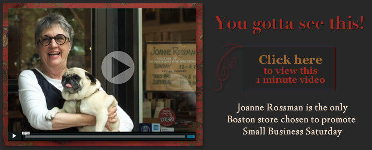Joanne Rossman video for Small Business Saturday