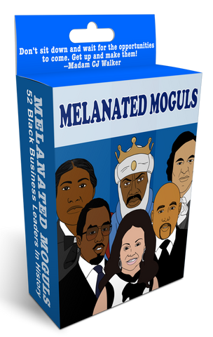 MELANATED MOGULS FLASHCARDS -- Black Business Leaders In History