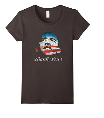 Women's Barack Obama's Last Day as President T-Shirt - Thank you