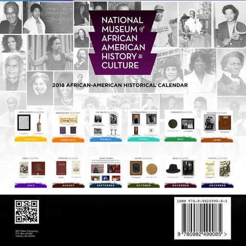 2018 National Museum of African American History and Culture Calendar