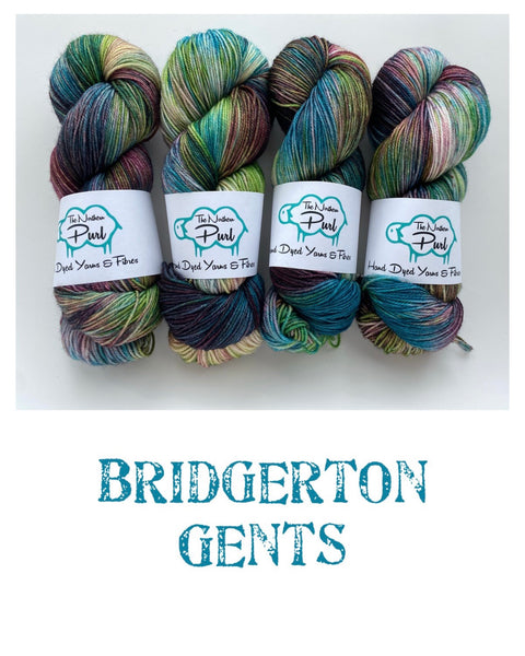 The Northern Purl Hand Dyed Sock Blend - Bridgerton Collection