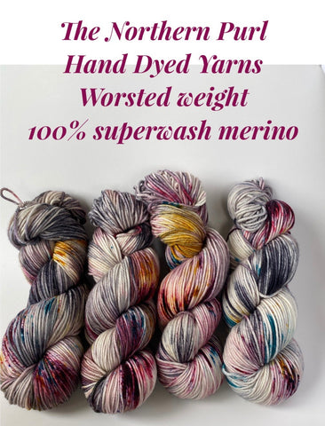 The Northern Purl Hand dyed Yarn - Worsted