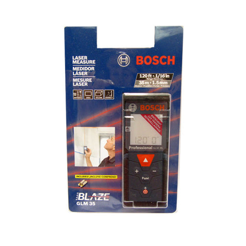 Bosch GLM35 120-Foot Pocket Size Backlit Screen Laser Distance Measurer