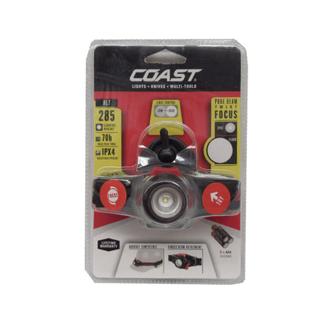Coast HL7 285 Lumen Pure Beam Focusing LED Headlamp