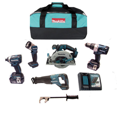 Makita 18v PREMUIM 5 Piece Brushless Combo Kit