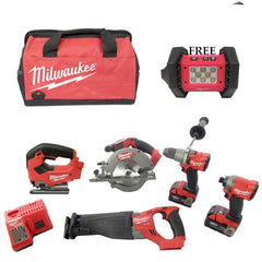 *Limited Edition*Milwaukee M18 Fuel 5 Piece Kit (JS) +FREE M18 Cordless LED Flood Light