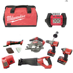 **Limited Edition**Milwaukee M18 Fuel 5 Piece Kit (MT)+FREE M18 Cordless LED Flood Light