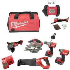 **Limited Edition**Milwaukee M18 Fuel 6 Piece Kit +FREE M18 Cordless LED Flood Light