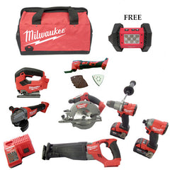 *Limited Edition*Milwaukee M18 Fuel 7 Piece Kit  +FREE M18 Cordless LED Flood Light