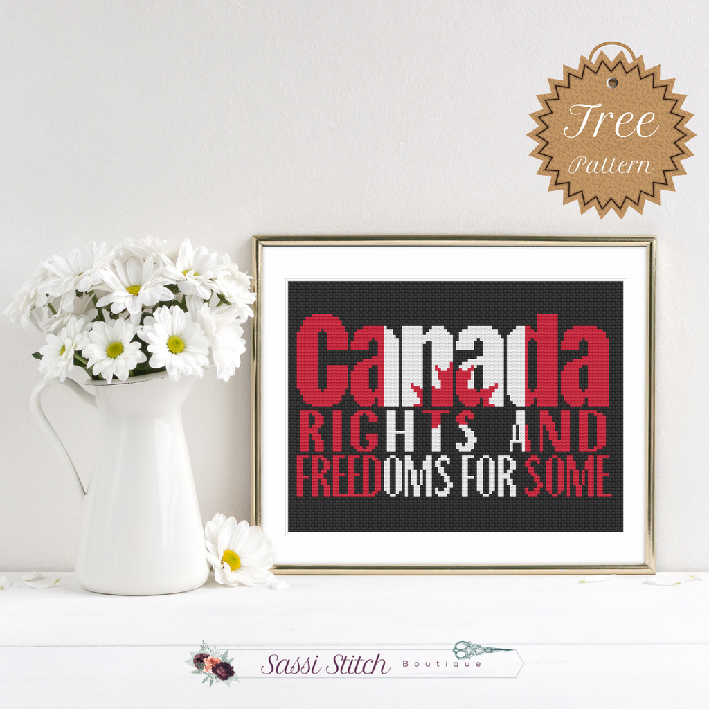 Canadian Rights and Freedoms for Some Free Cross Stitch Pattern