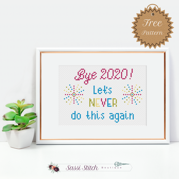 Free New Year Cross Stitch Pattern