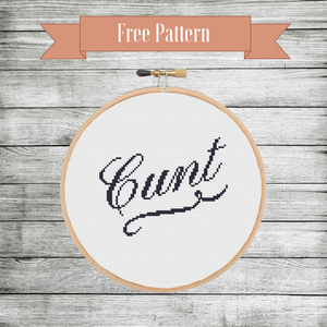 Free Cunt Cross Stitch Pattern