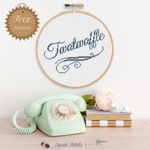 Free Twatwaffle Cross Stitch Pattern