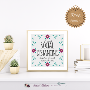 Free Social Distancing Cross Stitch Pattern