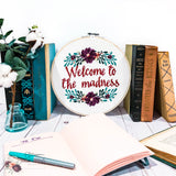 Welcome to the Madness Cross Stitch Kit - Sassi Stitch Boutique