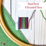 Mauve, Green and Grey Hand Dyed 6 Stranded Embroidery Floss - Sassi Stitch Boutique