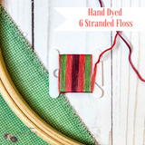 Mauve, Coral, and Green Hand Dyed 6 Stranded Embroidery Floss - Sassi Stitch Boutique