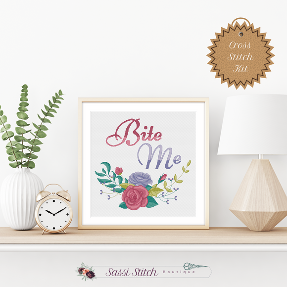 Bite Me Cross Stitch Kit