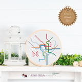DC Transit Map Cross Stitch Kit