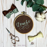 Douche Cross Stitch Hoop Art - Sassi Stitch Boutique
