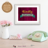 Kindly Fuck Off Cross Stitch Pattern - Sassi Stitch Boutique